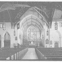 Christ Church, Greenwich, Connecticut. Interior to chancel