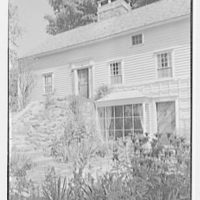 Donn Jefferson Sheets, residence in New Preston, Connecticut. Detail window and steps