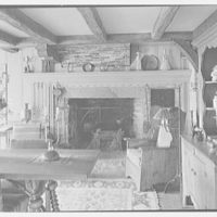Donn Jefferson Sheets, residence in New Preston, Connecticut. Dining room, to fireplace