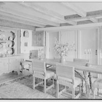 Donn Jefferson Sheets, residence in New Preston, Connecticut. Dining room, to table