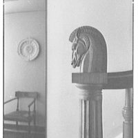 Geoffrey Platt, residence at 435 E. 84th St., New York City. Newel post detail