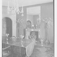 H.T. Lindeberg, residence in Locust Valley, Long Island. Dining room, to fireplace from right