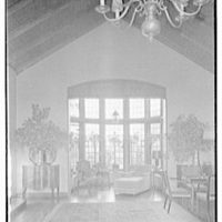 H.T. Lindeberg, residence in Locust Valley, Long Island. Living room bay window