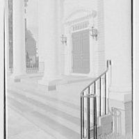Longmeadow, Massachusetts. Meeting house, 1768, detail of entrance