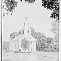 Longmeadow, Massachusetts. Meeting house, 1768, from left I