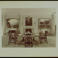 Master prints. Richard V.N. Gambrill, Vernon Manor, residence in Peapack, New Jersey, dining room