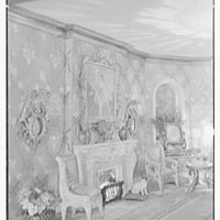 Mrs. Edward Titus (Mme Helena Rubinstein), residence at 895 Park Ave., New York City. Gay Nineties room, fireplace detail