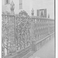 New Orleans photographs. 915 Royal St., corn gates and fence