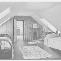 Edward Shepard Hewitt, West Acre, residence in Lloyd Harbor, Long Island. Attic bedroom for four beds
