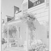 Edward Shepard Hewitt, West Acre, residence in Lloyd Harbor, Long Island. West elevation entrance detail, with Mickey