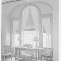 Edwin L. Howard, residence in Westport, Connecticut. Living room, palladian west window