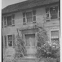 Enfield, Connecticut. Captain Dennis Bement, 1711, residence, detail
