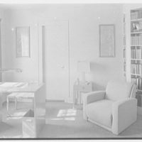 George R. Dyer, residence in Brookville, Long Island. Study, from door