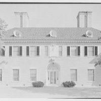 Howard Phipps, residence in Westbury, Long Island. East garden facade, center section