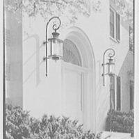 Howard Phipps, residence in Westbury, Long Island. Entrance facade, entrance detail II