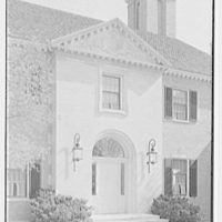 Howard Phipps, residence in Westbury, Long Island. Entrance facade, entrance section vertical