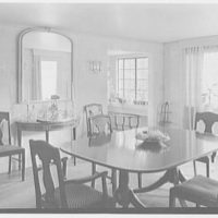 Mrs. D. Walter Gibson, residence on Old Church Rd., Greenwich, Connecticut. Dining room