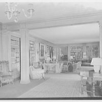 Mrs. Z.G. Simmons, Sr., residence on Clapboard Ridge Rd., Greenwich Connecticut. Library, general view II