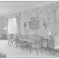 Peter H.B. Frelinghuysen, residence on El Burro Way, Palm Beach, Florida. Living room, to sofa