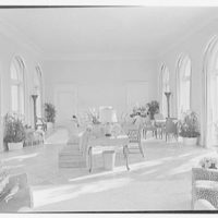 Wolcott Blair, residence on Ocean Blvd., Palm Beach, Florida. Loggia from entrance door