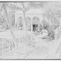 Wolcott Blair, residence on Ocean Blvd., Palm Beach, Florida. Railing and pavilion, horizontal