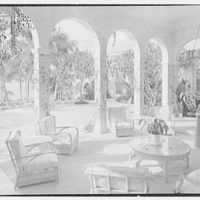 A.E. Worswick, residence on S. Ocean Blvd., Palm Beach, Florida. Loggia, cross view