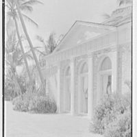 A.E. Worswick, residence on S. Ocean Blvd., Palm Beach, Florida. Ocean facade, center section sharp