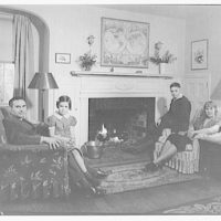 Art Brown and family. Brown family portrait, facing camera II