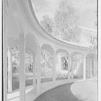 Charles E. Merrill, residence on N. Lake Trail, Palm Beach, Florida. Curved loggia II
