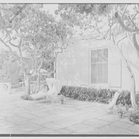 E.F. Hutton, residence on S. Ocean Blvd., Palm Beach, Florida. Cross view to wing
