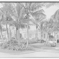 E.F. Hutton, residence on S. Ocean Blvd., Palm Beach, Florida. Ocean facade from right I, on road