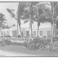E.F. Hutton, residence on S. Ocean Blvd., Palm Beach, Florida. Ocean facade from right II, on road