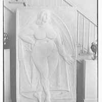 Gaston Lachaise sculpture at 42 Washington Mews, New York City. Relief figure
