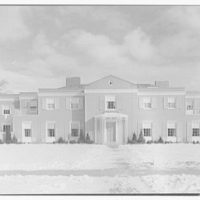 George O. Johnston, residence at 20 Lothrop Rd., Grosse Pointe Farms, Michigan. Exterior