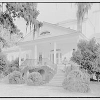 H.S. Shonnard, Harrieta Plantation, residence in Santee, South Carolina. Entrance facade, close-up