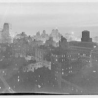 Mrs. Hugh Mercer Walker, residence at 730 Park Ave., New York City. Skyline night view