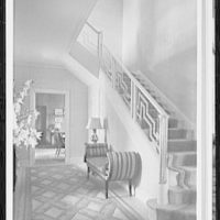 Palm Beach residence. Robert D. Huntington, residence on Travellers Way, hall, to library