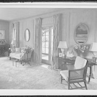 Palm Beach residence. Robert D. Huntington, residence on Travellers Way, living room, sharp