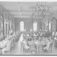 Phillips Academy, Andover, Massachusetts. Commons Building, Stearn hall dining room
