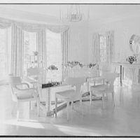 Robert D. Huntington, residence on Travellers Way, Palm Beach, Florida. Dining room, general view