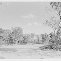 Robert D. Huntington, residence on Travellers Way, Palm Beach, Florida. General view of house from garden
