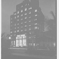 The Tides Hotel, Ocean Blvd., Miami Beach, Florida. Exterior, general view at night