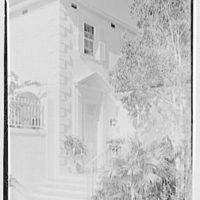 Alexander D. Thayer, residence at 5940 N. Bay Rd., Miami Beach, Florida. Entrance detail
