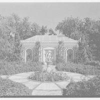 Marshall Allworth, residence on N. Bay Rd., Miami Beach, Florida. Garden, to slat house I