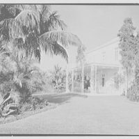 Marshall Allworth, residence on N. Bay Rd., Miami Beach, Florida. Porch from right, no clouds