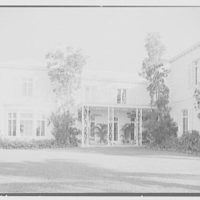 Marshall Allworth, residence on N. Bay Rd., Miami Beach, Florida. West facade, north end, no clouds