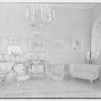 Mrs. John Hubbard, residence at 24 E. 57th St., New York City. Living room, to couch