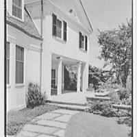 Robert T. Swaine, residence in Milton, Connecticut. Breakfast porch from portico