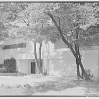 Wayne V. Brown, residence on Hollow Tree Ridge Rd., Darien, Connecticut. Entrance facade from right