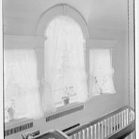 Albert W. Sherer (formerly Mrs. Myron C. Wick), residence on Round Hill Rd., Greenwich, Connecticut. Second floor palladian window